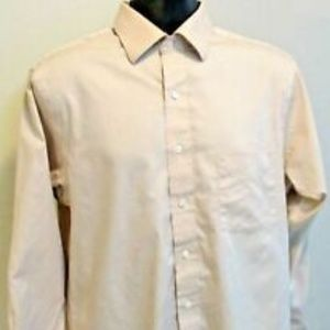 Van Heusen Tan Pinpoint Oxford Shirt/ 16/32-33